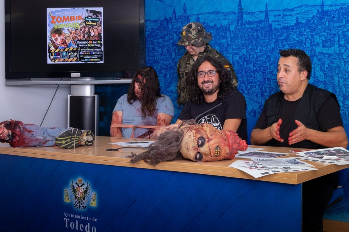 https://www.toledo.es/wp-content/uploads/2018/09/01-zombie-survival-1200x800-1-1200x800.jpg. Más de un centenar de jóvenes podrán disfrutar el día 30 de septiembre de la 'Apocalipsis Zombie Survival' en Safont