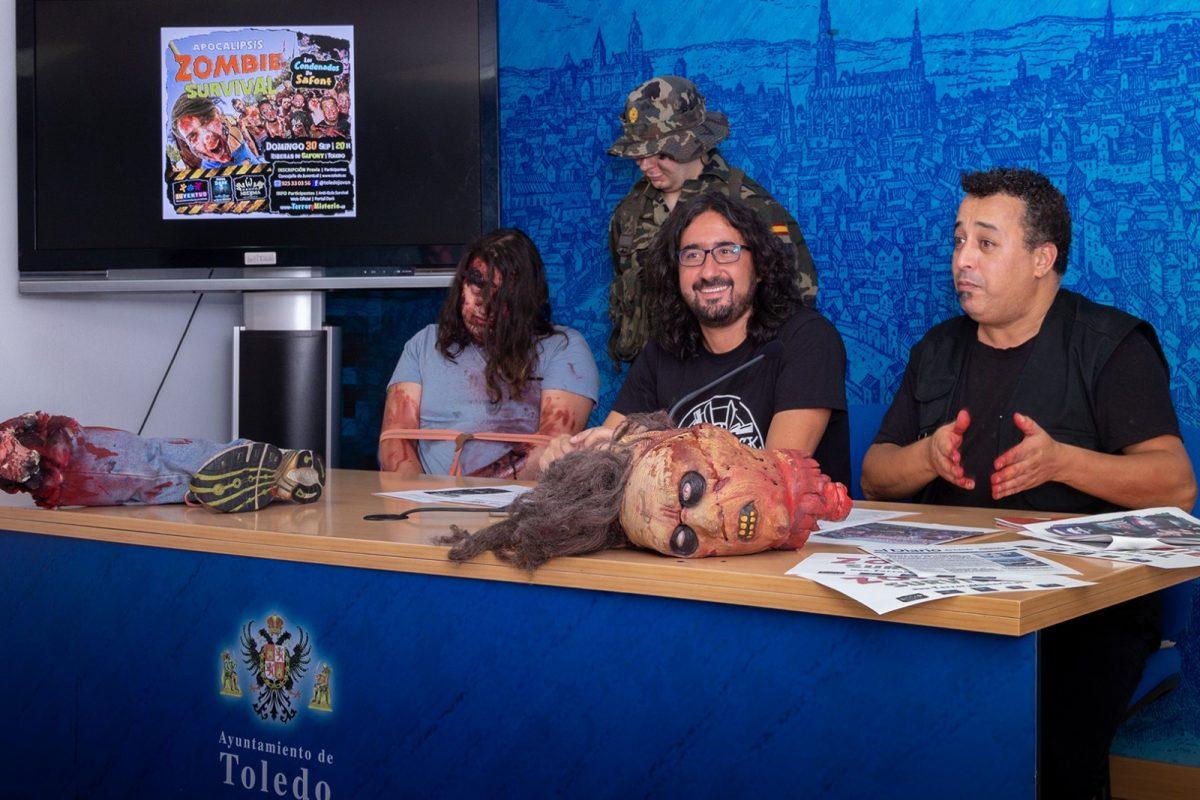 https://www.toledo.es/wp-content/uploads/2018/09/01-zombie-survival-1200x800.jpg. Más de un centenar de jóvenes podrán disfrutar el día 30 de septiembre de la 'Apocalipsis Zombie Survival' en Safont
