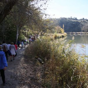 ilagros Tolón anuncia la instalación de un circuito de gimnasia en la Senda Ecológica del Tajo