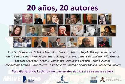 """http://www.toledo.es/wp-content/uploads/2018/09/20-anos-20-autores.jpg. Exposición """"20 años, 20 autores"""""""