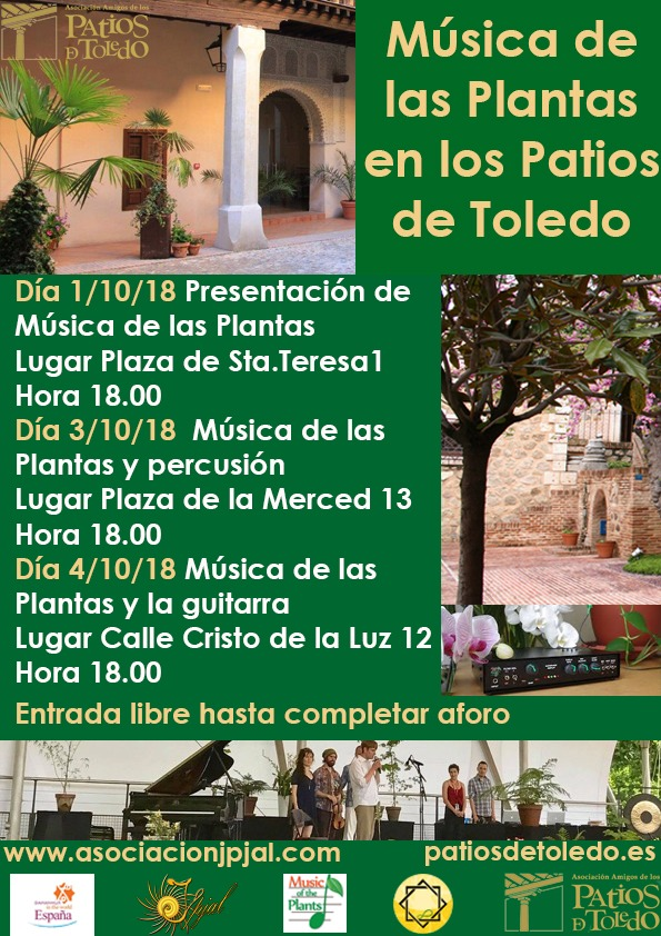 https://www.toledo.es/wp-content/uploads/2018/09/cartel-patios.jpg. Música de las Plantas en los Patios de Toledo: Presentación de Música de las Plantas