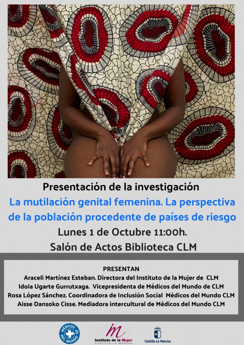 """http://www.toledo.es/wp-content/uploads/2018/09/cartel-presentacion-investigacion-mgf-848x1200.jpg. Presentación de la investigación: """"La mutilación genital femenina. La perspectiva de la población procedente de países de riesgo"""""""