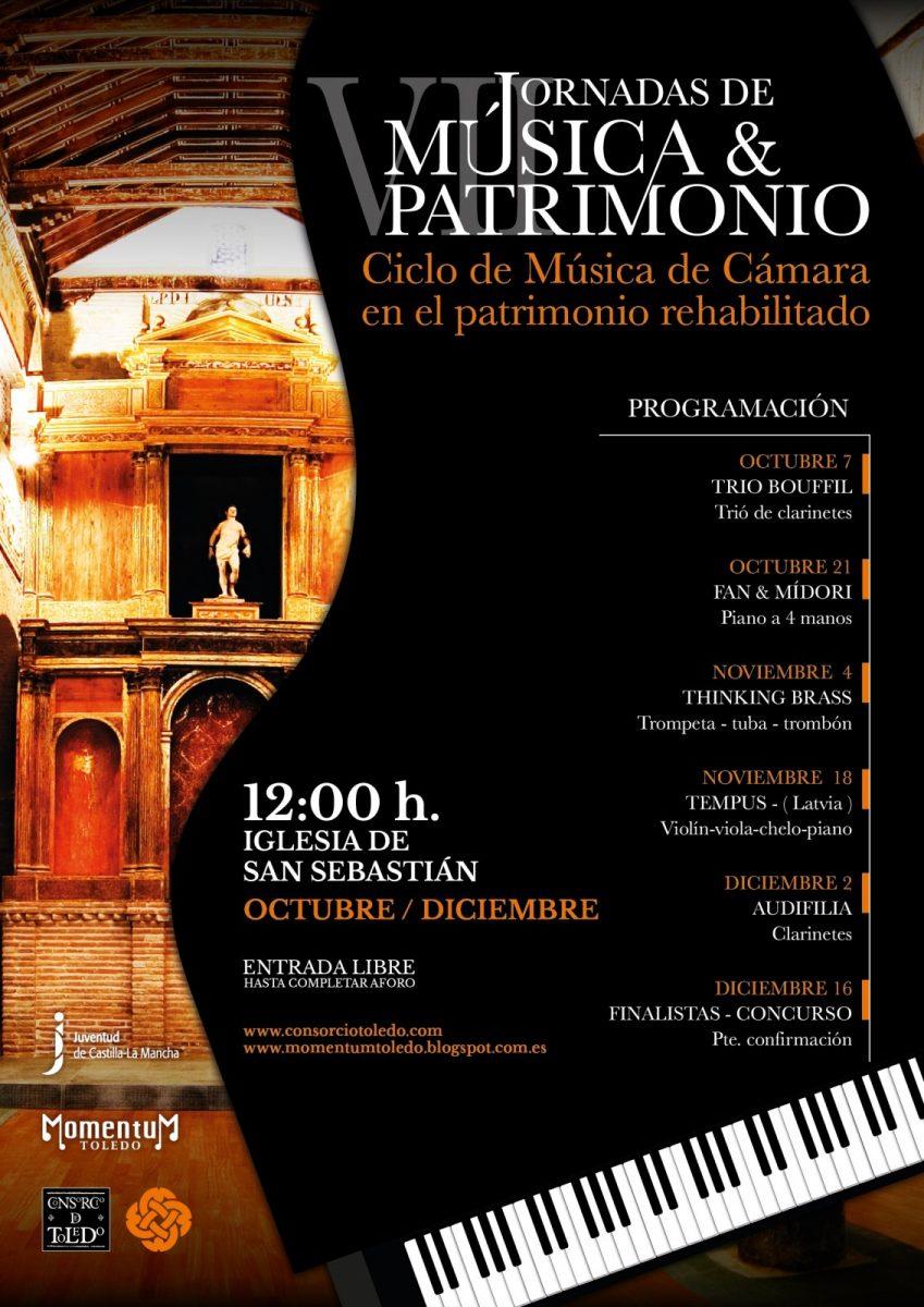 http://www.toledo.es/wp-content/uploads/2018/09/cartel-vii-jornadas-849x1200.jpg. Ciclo de música y patrimonio: Trío Bouffil