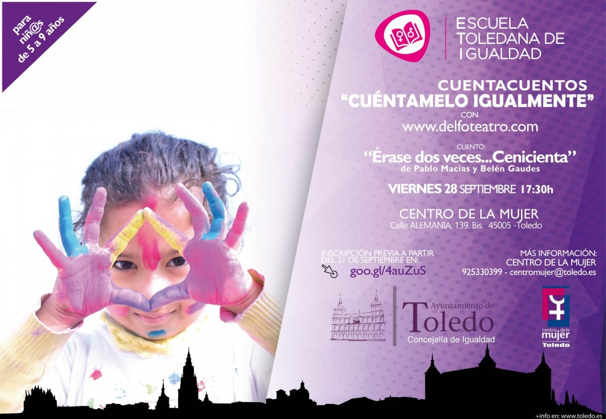 """https://www.toledo.es/wp-content/uploads/2018/09/cuento-1200x830.jpg. Escuela Toledana de Igualdad (ETI): 3.Cuentacuentos """"Cuéntamelo Igualmente"""", cuento Érase Dos veces… Cenicienta."""