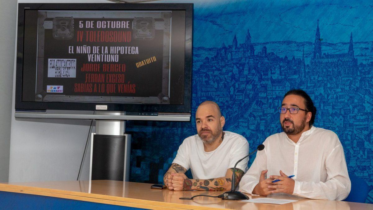 http://www.toledo.es/wp-content/uploads/2018/09/diego-mejias_toledo-sound-2018-1200x675-1-1200x675.jpg. 'El niño de la hipoteca', 'Veintiuno', Ferrán Exceso, Jorge Berceo y 'Sabías a lo que venías' pasarán por el IV Festival Toledo Sound
