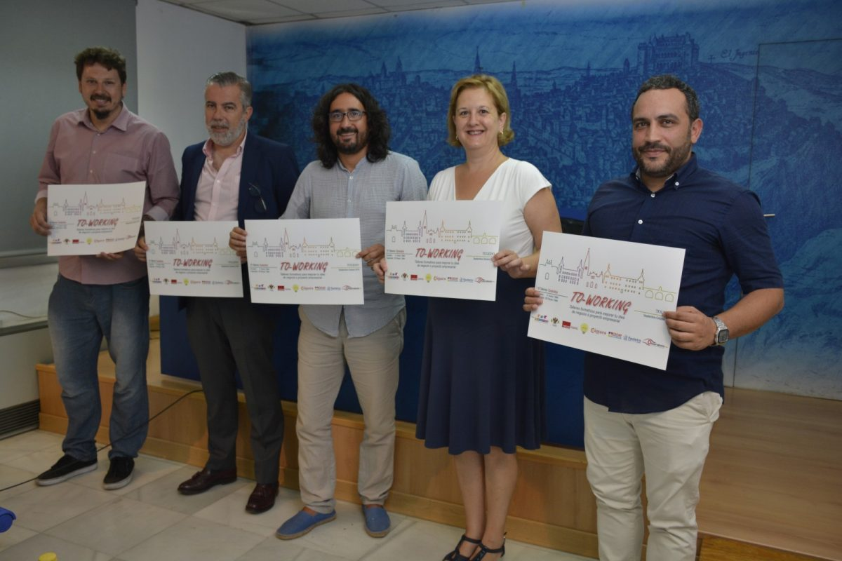 http://www.toledo.es/wp-content/uploads/2018/09/diego-mejias_toworking-1200x800.jpg. El Ayuntamiento pone en marcha 16 talleres gratuitos para jóvenes en materia de emprendimiento, idea de negocio y marketing digital