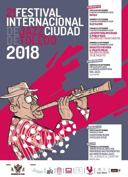 CARTEL ANUNCIADOR PROGRAMA XXI FESTIVAL INTERNACIONAL DE JAZZ CIUDAD DE TOLEDO