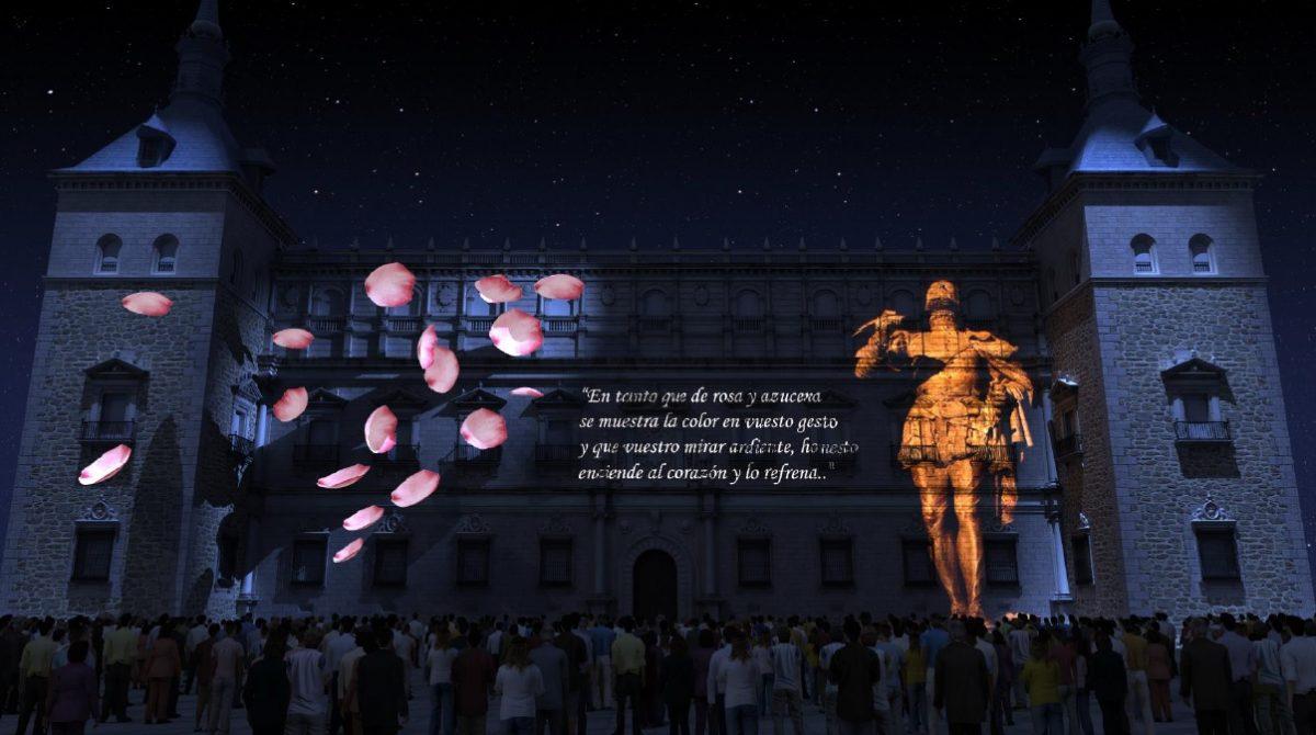 http://www.toledo.es/wp-content/uploads/2018/09/luz-toledo-6-1200x670.jpg. El nuevo espacio de Luz Toledo 2018 en el Alcázar logra la ovación del público y se prepara ya para los doce pases del fin de semana