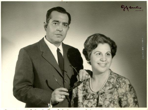 Mariano y Mari Luz hacia 1970