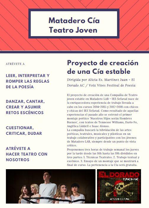 http://www.toledo.es/wp-content/uploads/2018/09/matadero-cia.jpg. Matadero Cía-Teatro joven.