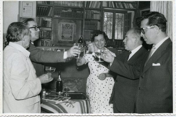 MMH-003-El Alcalde de Toledo en casa de Victorio Macho_ca 1960 - Fot Rodríguez