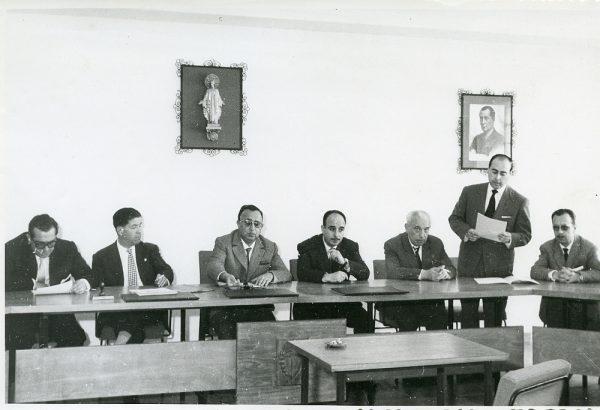 MMH-010-Acto de firma del convenio colectivo de la Construcción en el edificio de Sindicatos_1961 - Fot Flores
