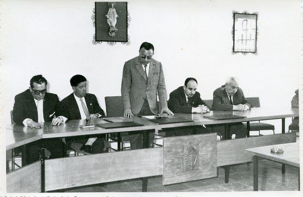 MMH-011-Acto de firma del convenio colectivo de la Construcción en el edificio de Sindicatos_1961 - Fot Flores