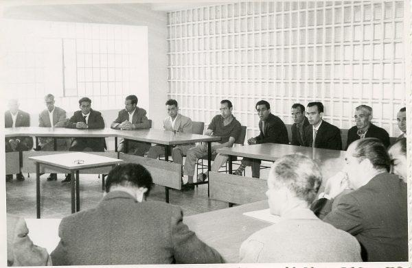 MMH-013-Acto de firma del convenio colectivo de la Construcción en el edificio de Sindicatos_1961 - Fot Flores