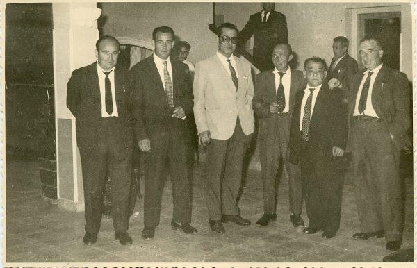 MMH-019-Firma del convenio colectivo de la Construcción en el restaurante Chirón_15-07-1961 - Fot Flores