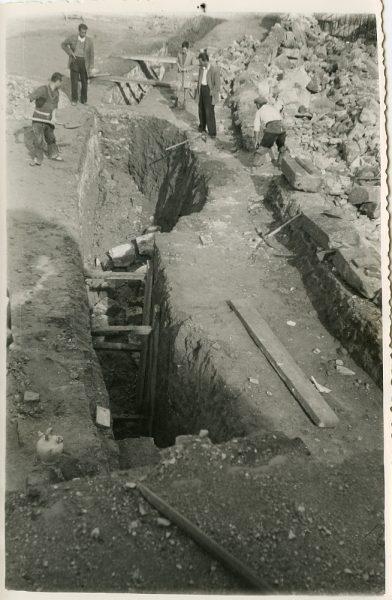 MMH-068-Obras en la plaza de toros de Toledo_1955 - Fot Alfonso
