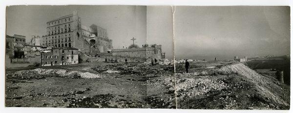 MMH-125-Obras de construcción del aparcamiento en la explanada del Alcázar, junto a San Miguel_ca 1950