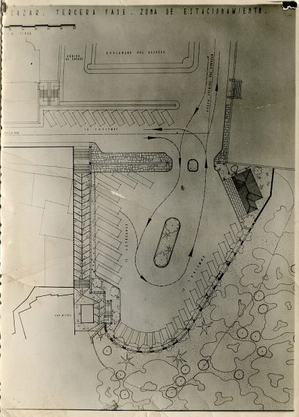 MMH-148-Obras de construcción del aparcamiento en la explanada del Alcázar, junto a San Miguel_ca 1954 - Fot Flores