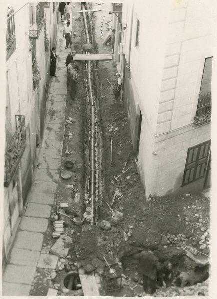 MMH-185-Obras de urbanización en la calle de Esteban Illán_1959 - Fot Celestino