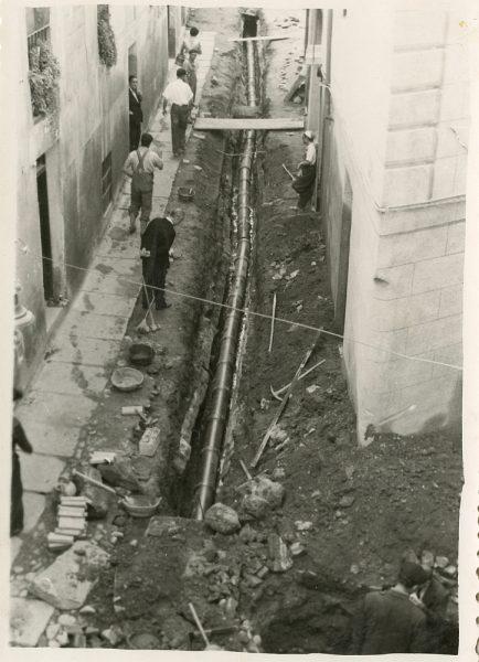 MMH-186-Obras de urbanización en la calle de Esteban Illán_1959 - Fot Celestino