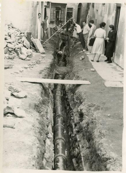 MMH-187-Obras de urbanización en la calle de Esteban Illán_1959 - Fot Celestino