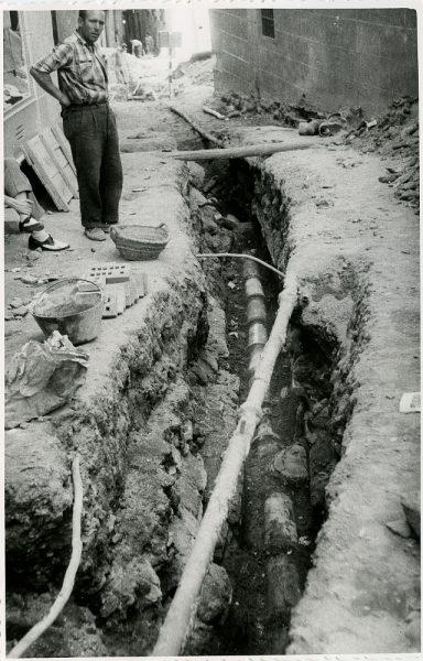 MMH-206-Obras de urbanización en la calle Tendillas_1959 - Fot Flores