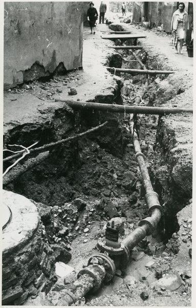 MMH-214-Obras de urbanización en la calle Tendillas_1959 - Fot Flores