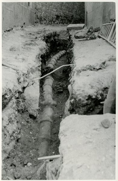 MMH-227-Obras de urbanización en la calle y plaza Buzones_1959 - Fot Flores