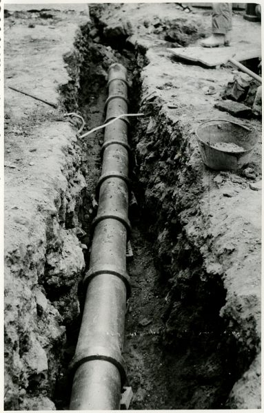 MMH-228-Obras de urbanización en la calle y plaza Buzones_1959 - Fot Flores