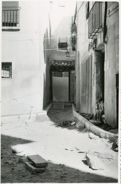 MMH-233-Obras de urbanización en la calle y plaza Buzones_1959 - Fot Flores
