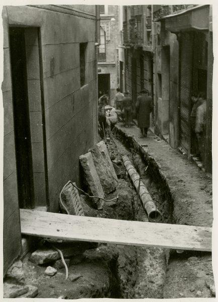 MMH-241-Obras de urbanización en la cuesta de la Sal_1960 - Fot Celestino