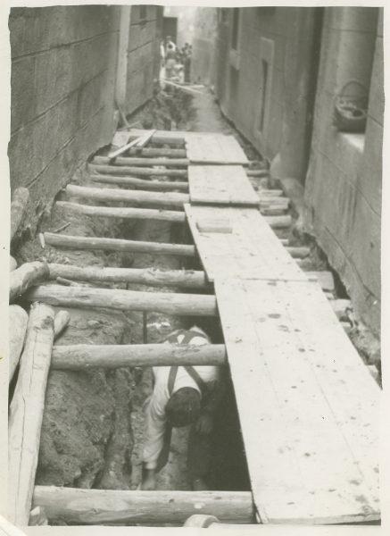 MMH-252-Obras de urbanización en la calle de la Lechuga o Bécquer_1960 - Fot Celestino