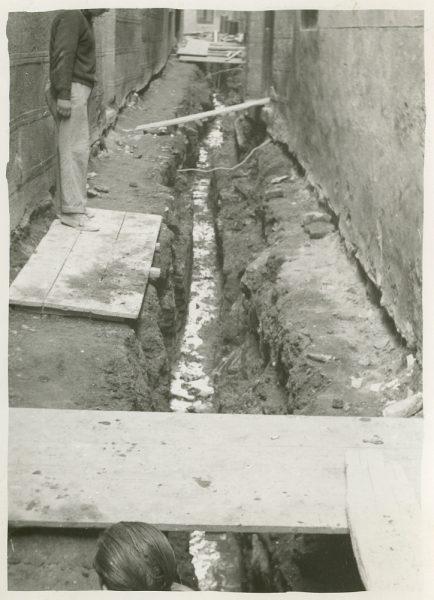 MMH-253-Obras de urbanización en la calle de la Lechuga o Bécquer_1960 - Fot Celestino