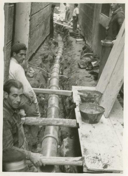 MMH-255-Obras de urbanización en la calle de la Lechuga o Bécquer_1960 - Fot Celestino