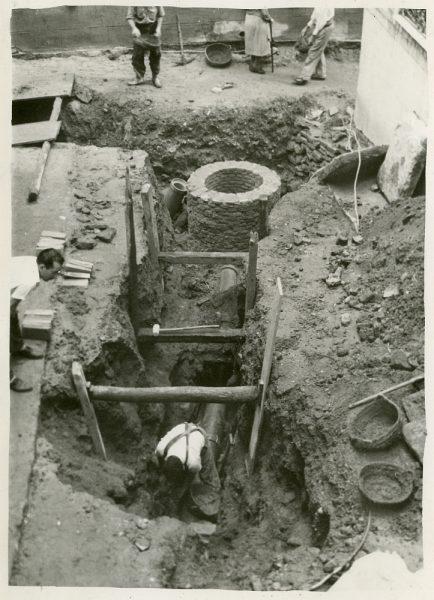 MMH-258-Obras de urbanización en la calle de la Lechuga o Bécquer_1960 - Fot Celestino