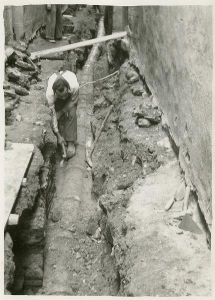 MMH-259-Obras de urbanización en la calle de la Lechuga o Bécquer_1960 - Fot Celestino