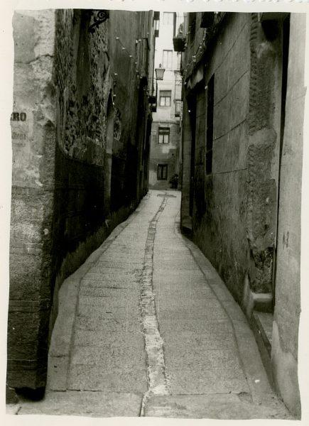 MMH-260-Obras de urbanización en la calle de la Lechuga o Bécquer_1960 - Fot Celestino