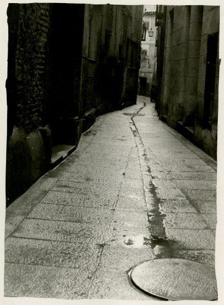 MMH-261-Obras de urbanización en la calle de la Lechuga o Bécquer_1960 - Fot Celestino