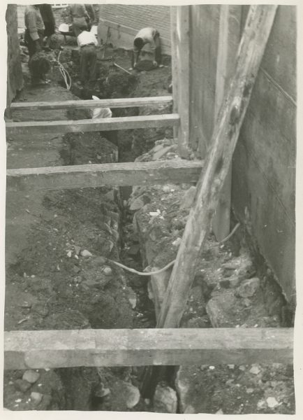 MMH-267-Obras de urbanización en el callejón de San Ginés_1960 - Fot Celestino