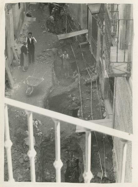 MMH-276-Obras de urbanización en la calle de la Granada_1960 - Fot Celestino