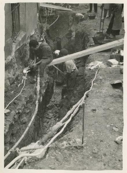 MMH-278-Obras de urbanización en la calle de la Granada_1960 - Fot Celestino