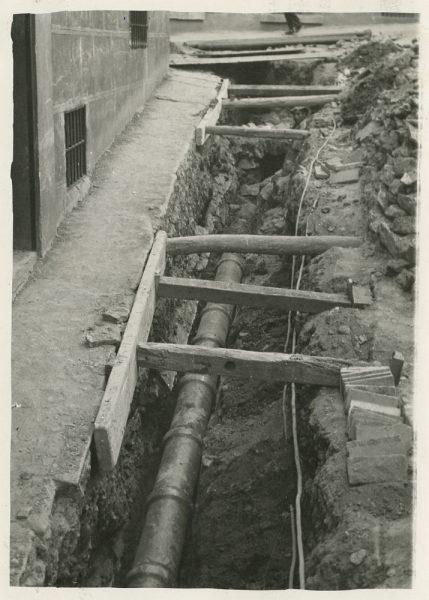 MMH-279-Obras de urbanización en la calle de la Granada_1960 - Fot Celestino