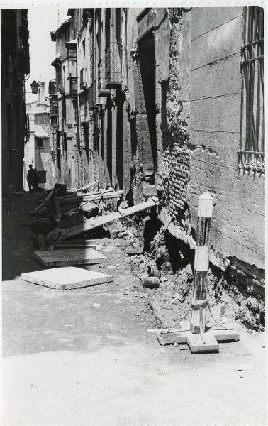 MMH-286-Obras de urbanización en la calle de Núñez de Arce_1960 - Fot Flores