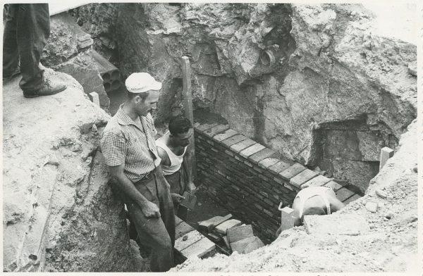 MMH-292-Obras de urbanización en la calle de Núñez de Arce_1960 - Fot Flores