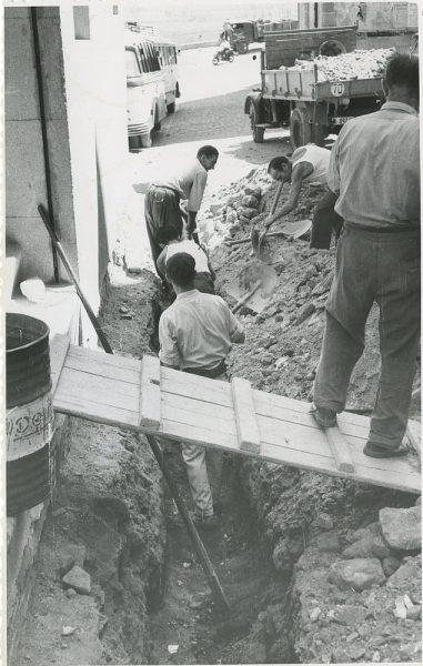 MMH-295-Obras de urbanización en la calle de Núñez de Arce_1960 - Fot Flores