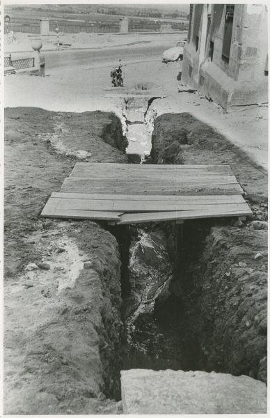 MMH-296-Obras de urbanización en la calle de Núñez de Arce_1960 - Fot Flores