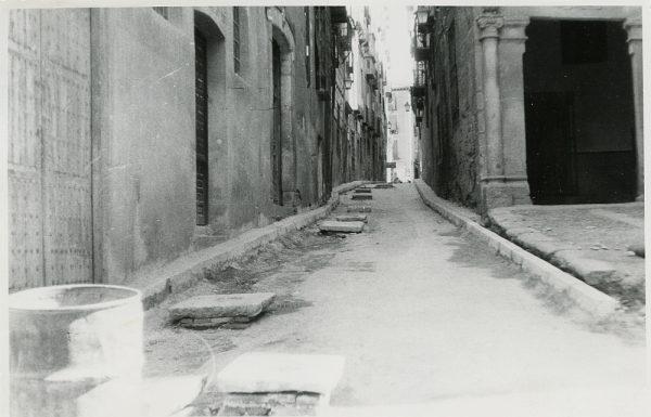 MMH-307-Obras de urbanización en la calle de Núñez de Arce_1960 - Fot Flores