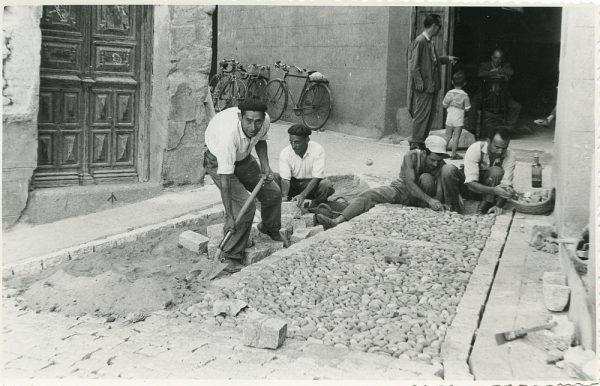 MMH-314-Obras de urbanización en la calle de Núñez de Arce_1960 - Fot Flores