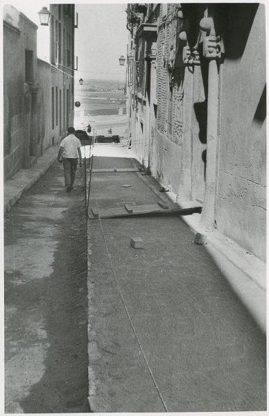 MMH-318-Obras de urbanización en la calle de Núñez de Arce_1960 - Fot Flores