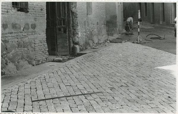 MMH-319-Obras de urbanización en la calle de Núñez de Arce_1960 - Fot Flores